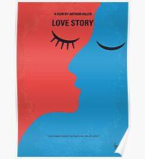 No600- Love Story minimal movie poster Poster