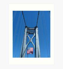 Memorial Day Bridge Art Print