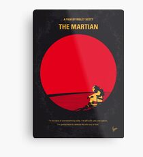 No620- The Martian minimal movie poster Metal Print