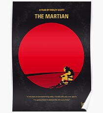 No620- The Martian minimal movie poster Poster