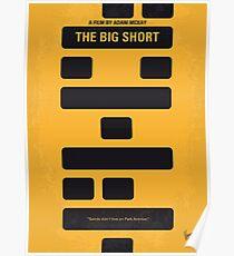 No622- The Big Short minimal movie poster Poster