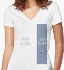 HER SIDE. HIS SIDE. Women's Fitted V-Neck T-Shirt