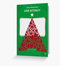 No701- Love Actually minimal movie poster Greeting Card