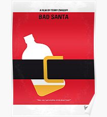 No702- Bad Santa minimal movie poster Poster