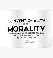 conventionality, morality - charlotte brontë Poster