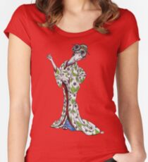 Graceful Geisha Women's Fitted Scoop T-Shirt