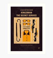 Lámina artística No758- Cartel de película minimalista Kingsman