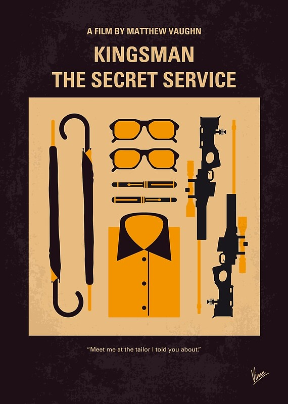 """No758- Kingsman minimal movie poster"" Posters by ..."