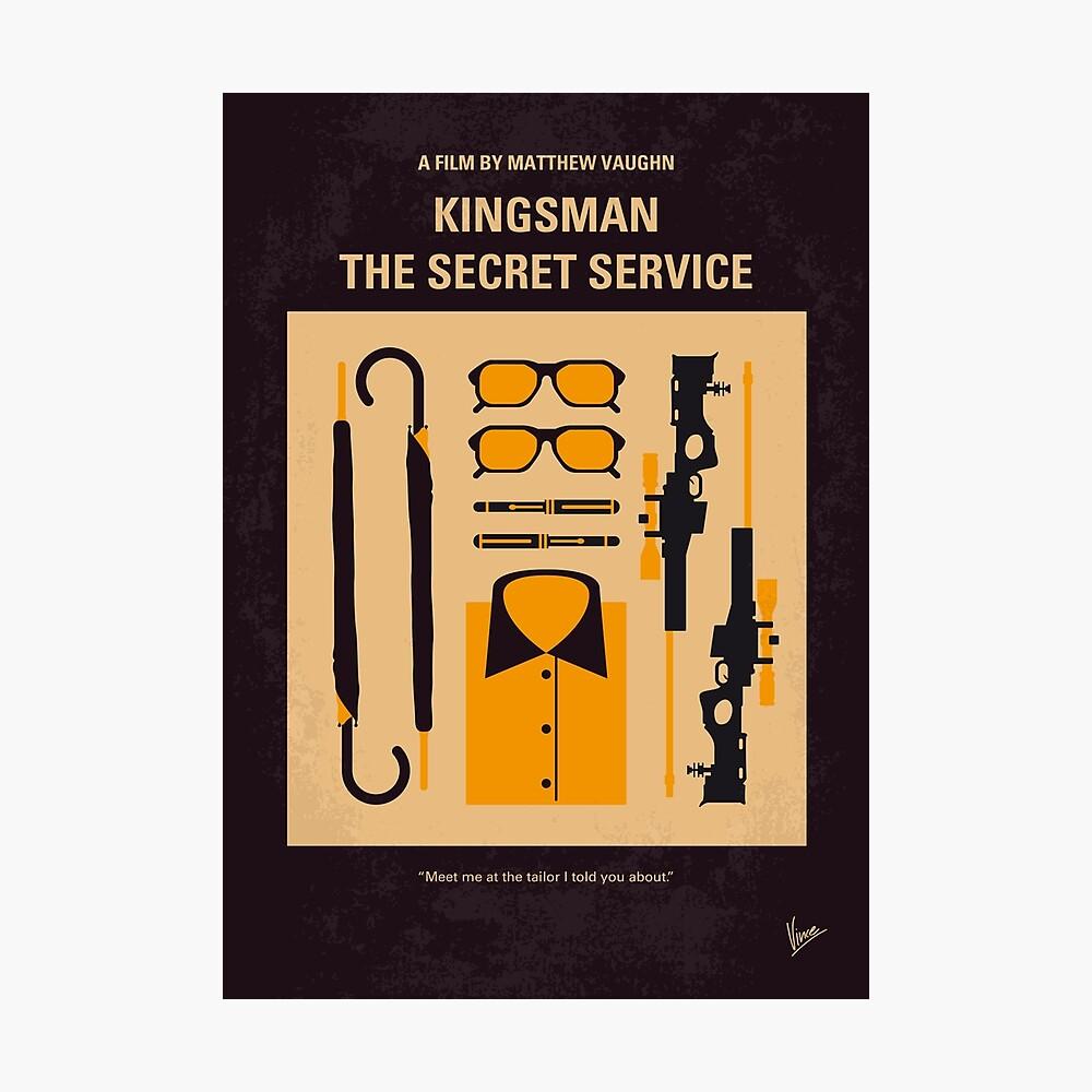No758- Cartel de película minimalista Kingsman Lámina fotográfica