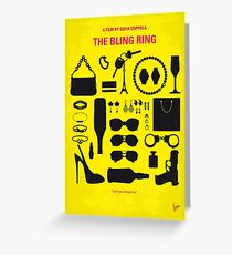 No784- The Bling Ring minimal movie poster Greeting Card