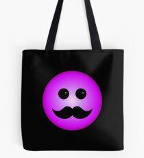 Purple Smiley Emoticon With Black Mustache Tote Bag