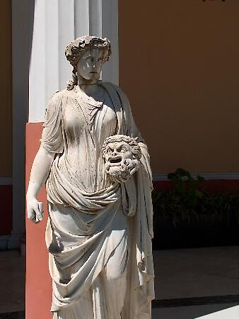 statue at Sissi's palace, Corfu, Greece by chord0