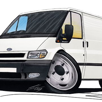 Ford Transit (Mk5) White by yeomanscarart