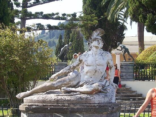 statue of Achilles, Corfu, Greece by chord0