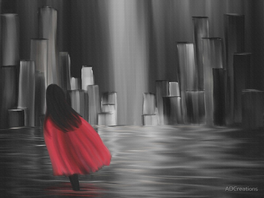 Girl with a Red Cape by ADCreations