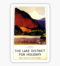 Vintage Travel Poster – The Lake District Sticker