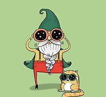 Wizard and Cat by agrapedesign