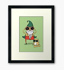 Wizard and Cat Framed Print