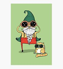 Wizard and Cat Photographic Print
