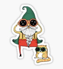 Wizard and Cat Sticker