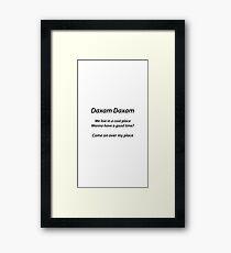 Daxam theme song Framed Print