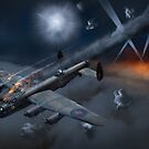 Lancaster KB799 under fire by Gary Eason