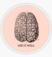 Use it well - Brain  Transparent Sticker