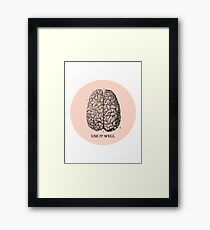 Use it well Framed Print