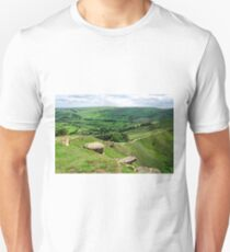 South from the Summit of Back Tor T-Shirt