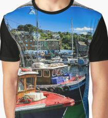 Fishing Boats at Rothesay Harbour. Graphic T-Shirt