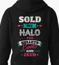 BULLETS, BOOTS and BEER solo my halo T-Shirt
