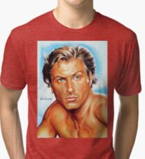 Lex Barker - Tarzan the Apeman, painting portrait, poster Tri-blend T-Shirt