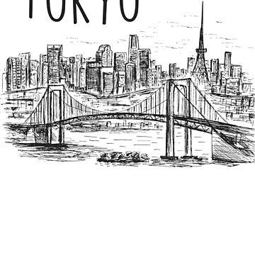 Tokyo Skyline and Landscape Design  by absha2018