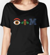 Eye Bee Em Poster sticker Women's Relaxed Fit T-Shirt