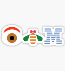 Eye Bee Em Poster sticker Sticker