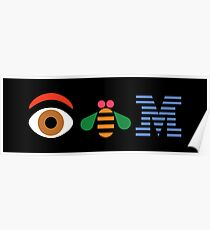 Eye Bee Em Poster sticker Poster