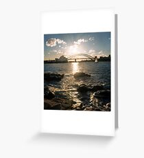 Golden hour in Sydney Harbour Greeting Card