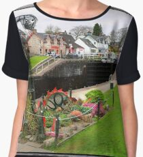 """Nessie"" Loch ness Monster at Fort Augustus. Women's Chiffon Top"