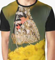 Painted lady on Tansy Graphic T-Shirt