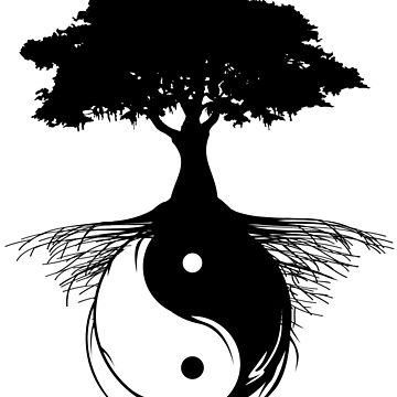 Yin and Yang Oak Tree - Tree of Life  by absha2018