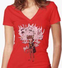 Oblivious Et Al Women's Fitted V-Neck T-Shirt