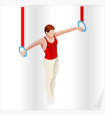 Artistic Gymnastics Rings Athlete male  Poster