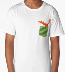 fox in my pocket Long T-Shirt
