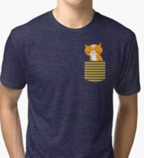 cat in my pocket Tri-blend T-Shirt
