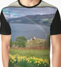 Urquhart Castle, Loch Ness, Scotland. Graphic T-Shirt