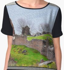 Urquhart Castle, Loch Ness, Scotland. Women's Chiffon Top