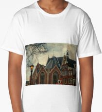Oude Kerk. Red Lights District. Amsterdam  Long T-Shirt