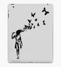 Banksy butterfly girl iPad Case/Skin