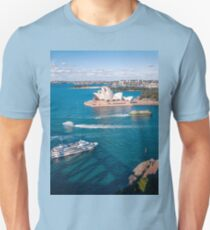White pearl of Sydney Opera House in the blue waters of Sydney Harbour T-Shirt