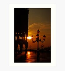 Dawn at the Doges palace Art Print